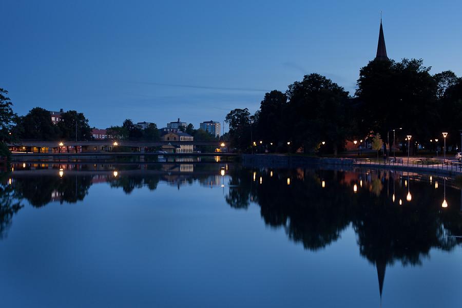 Eskilstuna Fors bridge and church