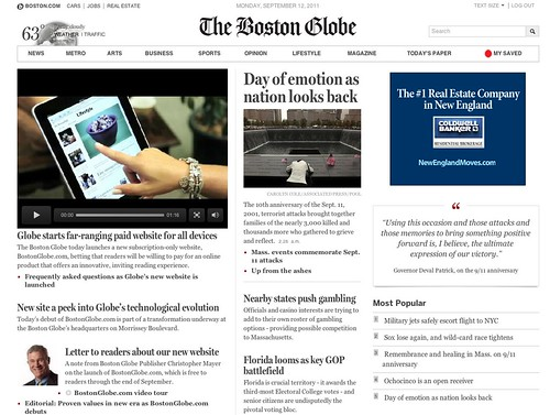 New Boston Globe pad website: bostonglobe.com by stevegarfield