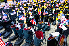 empty boots (smalldogs) Tags: usa america canon memorial boots 911 americanflag firemen 24mm patriotism manualfocus 911memorial deaths tiltshiftlens canon24mmtse september11th2011 91110yearanniversary firehousememorial