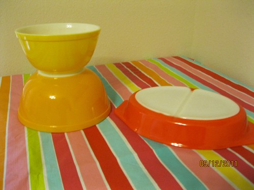 Yellow Bowls and Friendship Divided Dish