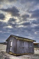 Vows made in storms are forgotten in calm... (FerPecT_sHotz) Tags: wood sky ny storm beach rain clouds island jones sand cabin long afternoon dramatic irene hdr hurricaneirene mygearandme