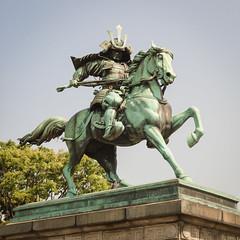 Statue of Kusunoki Masashige (morozgrafix) Tags: travel statue japan tokyo nikond70 samurai nikon1870mmf3545g kusunokimasashige
