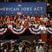 President Barack Obama delivers his jobs speech in Reynolds Coliseum.