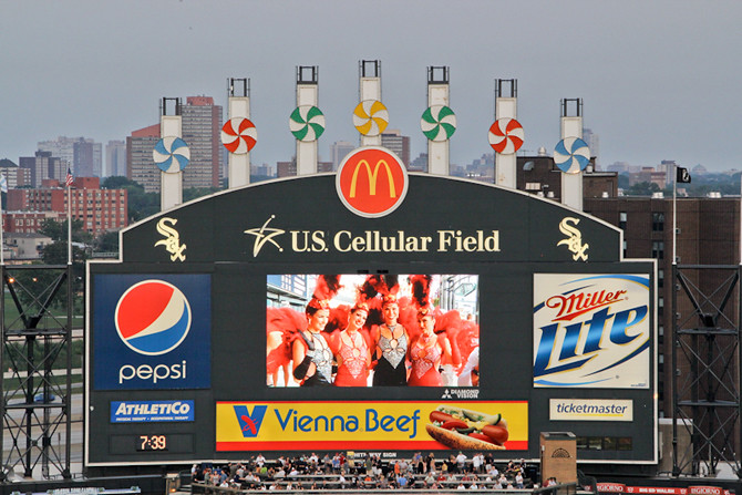 U.S. Cellular Field Scoreboard
