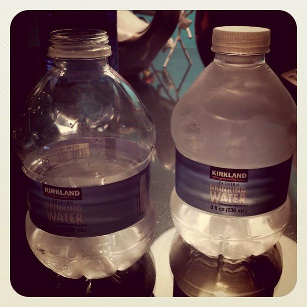Project 365 257/365: Drinking kid size 8 oz. shotglass style waters.