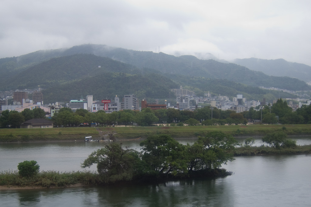 rainy Otagawa river at Hiroshima City
