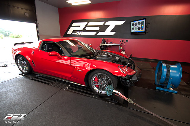 Edlebrock Supercharged Z06 on the dyno at PSI.jpg