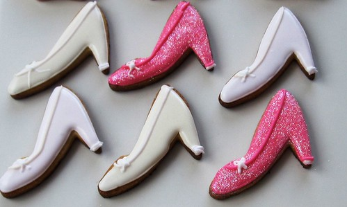 Princess shoe cookies!