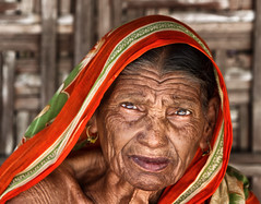 The Age Factor (bijoyKetan) Tags: old portrait woman color experiment funky age processing factor bangladesh ketan panchagarh canonef70200mm28is bijoyketan