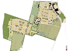 plan to convert the Clayhill farm to residential development (via Ranson Renewed presentation)