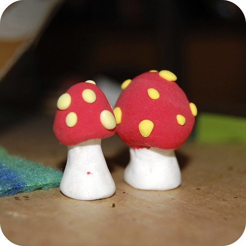 Toadstools at the base of the Faraway Tree