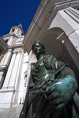 Loreto - Scorcio 03 (Promix The One) Tags: blu basilica campanile cielo statua marche facciata canoneos1dsmarkii loretoan sigmadg1530f3545exasph