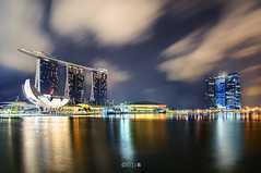 The Night That The Lights Never Went Out | Part 14 | Singapore (naza.carraro) Tags: show park city travel blue light party vacation holiday color water festival museum architecture marina river geotagged happy fire bay sand nikon singapore asia fireworks joy happiness quay celebration hour esplanade ndp cbd fullerton temasek singapura mbs raffles sungai ntuc kallang maybank 2011 naza artscience naza1715 nazarudin