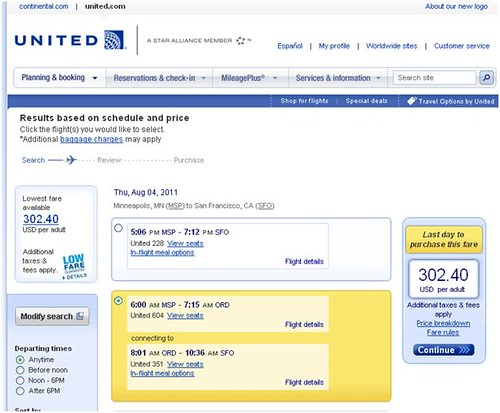 United airlines screen shot 3