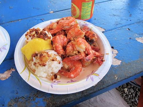 Giovanni's scampi shrimp plate