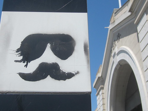 Mustache on the Pier