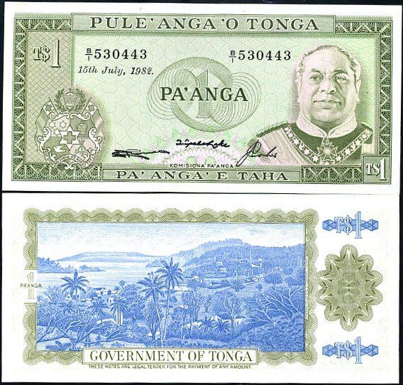 1 Pa`anga Tonga 1988, Pick 19c