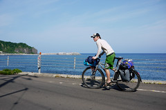 Biking on a loaded Surly Karate Monkey the Shakotan Peninsula, Hokkaido, Japan
