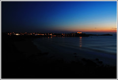 Newquay Nights (m78kem) Tags: sunset sea england canon lights coast town cornwall colours newquay eos50d weekendshowcase