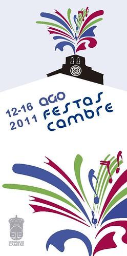 Cambre 2011 - Festas de Santa María - cartel