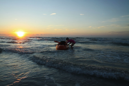 kayak at sunrise