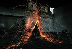 I'm a firestarter, terrific firestarter (Joao_Henriques) Tags: light wool portugal fire long exposure factory darkness starter steel tomar exposio ao zoon longa fbrica l firestarter flickraward joohenriques mygearandme