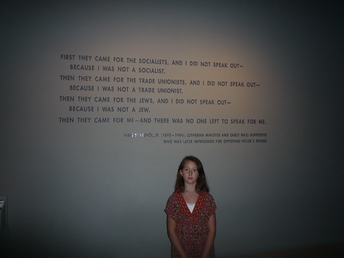 Jenya at Holocaust Museum
