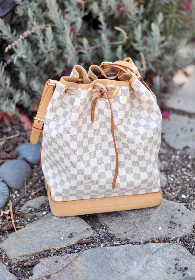 louis vuitton azur noe bucket bag+stones