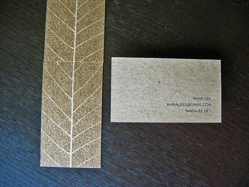 Kraft Letterpress Business Card
