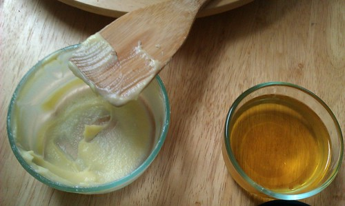 Lime mint curd and syrup
