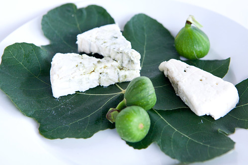 Buttermilk Blue cheese with figs from my garden