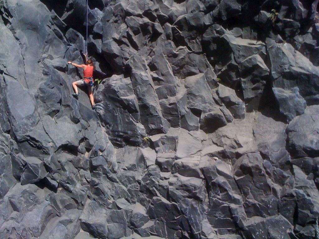 Claudia Rock Climbing