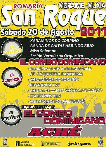 Muxía 2011 - Romaría de San Roque en Moraime - cartel