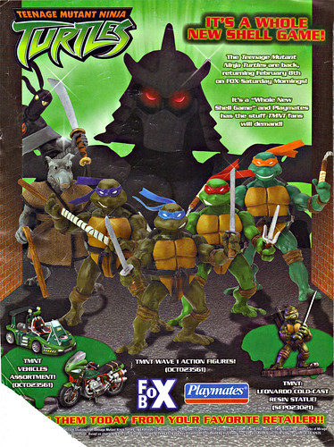 "PLAYMATES TOYS :: TEENAGE MUTANT NINJA TURTLES ; "" IT'S A WHOLE NEW SHELL GAME!"" (( 2003 ))"