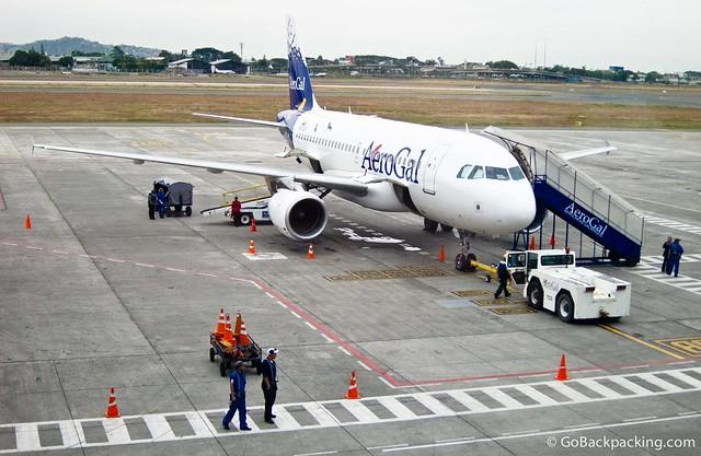 AeroGal plane at Guayaquil Airport