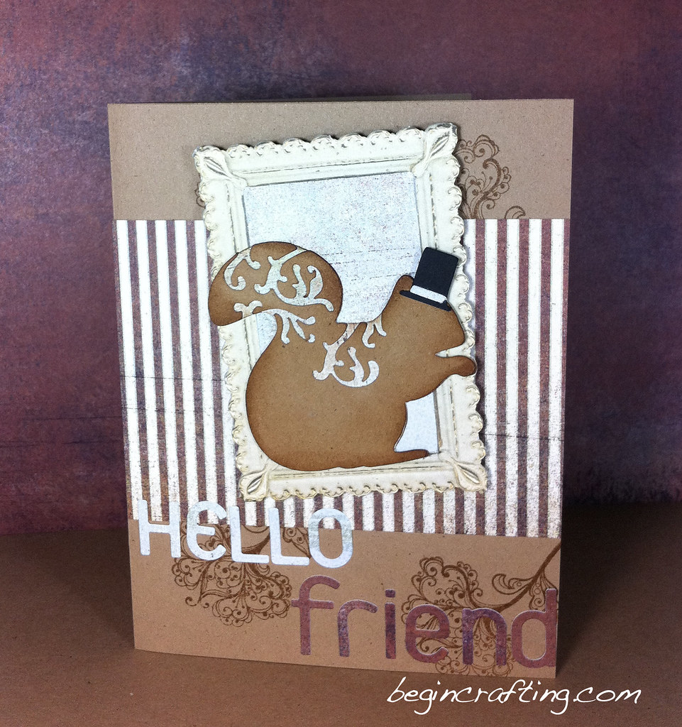 Handmade Hello Squirrel Card