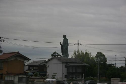 Trainside buddha