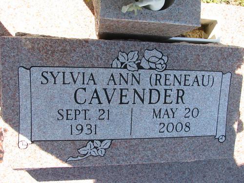My mother's headstone