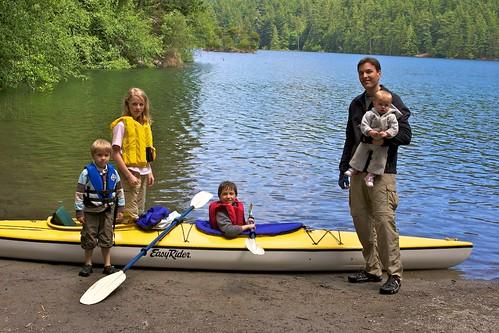 Enjoying our new kayak