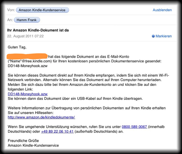 Daily Dueck auf den Amazon Kindle schicken