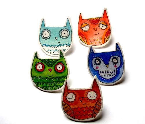 circle of owls