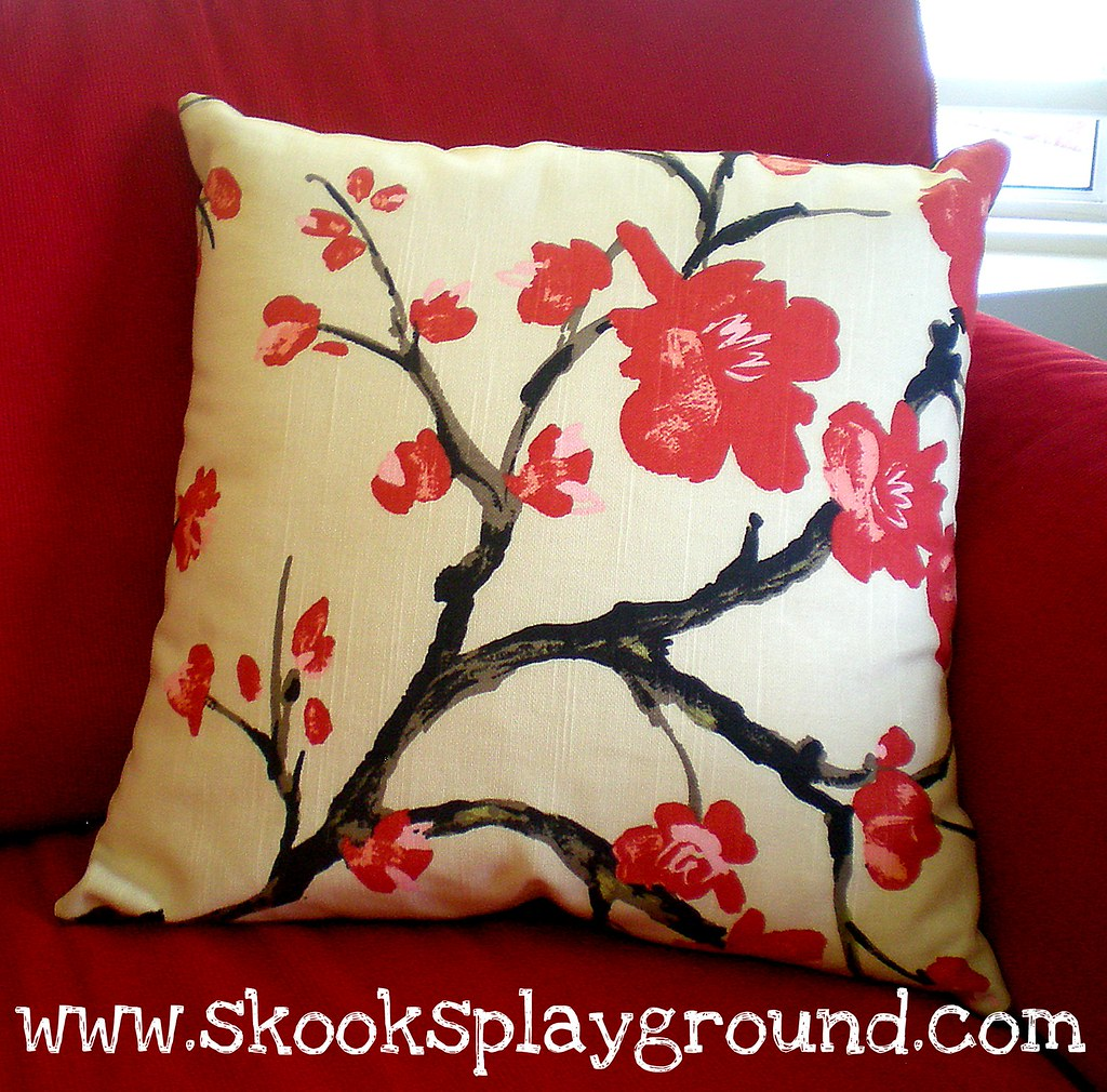 Cherry Blossom Pillow Front