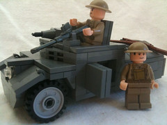 Morris scout car ({Copper Bricks}) Tags: boys car gun tank lego wwii rifle scout british morris 55 anti armored bren armoured reconnaissance