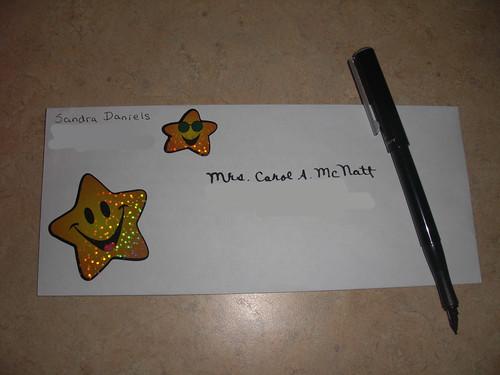 Letter Sent To Carol McNatt