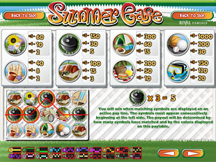 Summer Ease Slots Payout