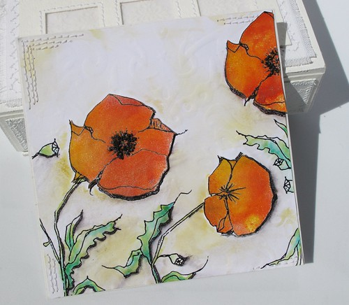 A Day for Daisies poppies notebook