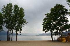 Off Season (melbaczuk) Tags: lake beach digital landscapes sand canoes offseason kelowna canonrebelxt gyro