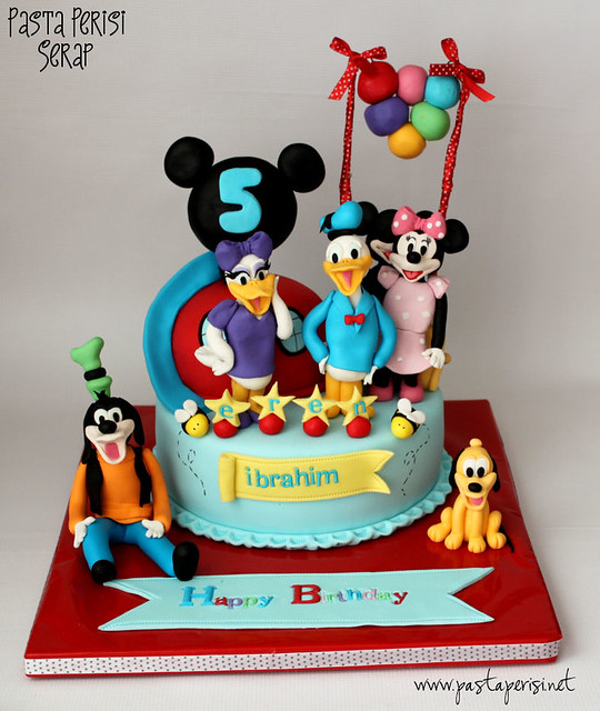 Mickey mouse clup house pastası