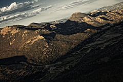 I Look Down On You :) (mhall231) Tags: sunset mountains canon outdoors colorado peak ridge vista rockymountains wilderness rockymountainnationalpark