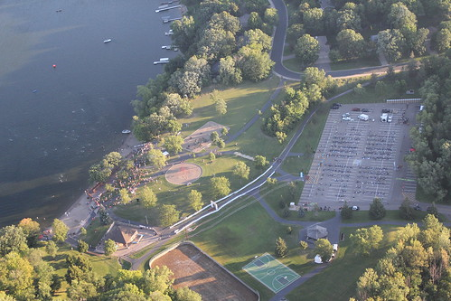 Areal image of Maple Grove Triathlon